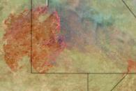 Huge Bushfire in the Kalahari