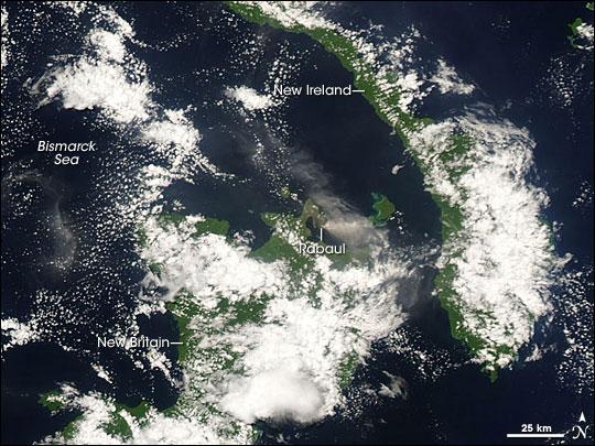 Plume from Rabaul Volcano
