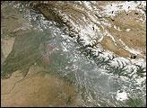 Haze along the Himalaya