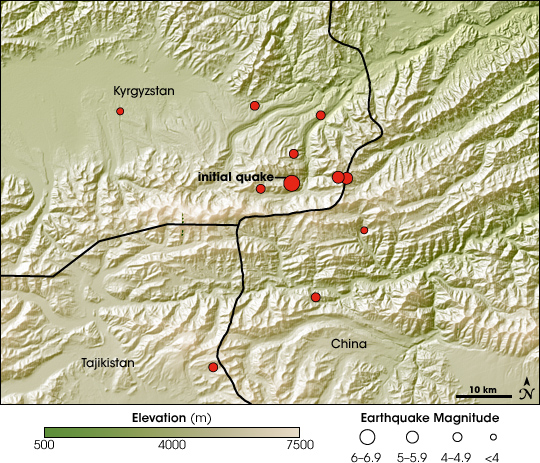 Earthquake in Kyrgyzstan