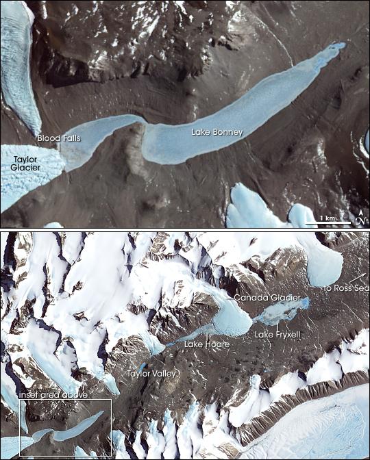 Blood Falls, Antarctica's Dry Valleys