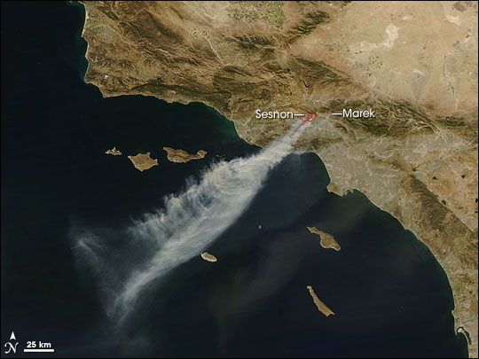 Fires near Los Angeles, California