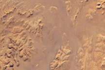 Desert Erosion, A Modern Libyan Landscape