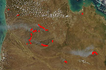 Fires in Queensland