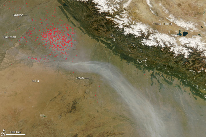 Fires in Northwest India