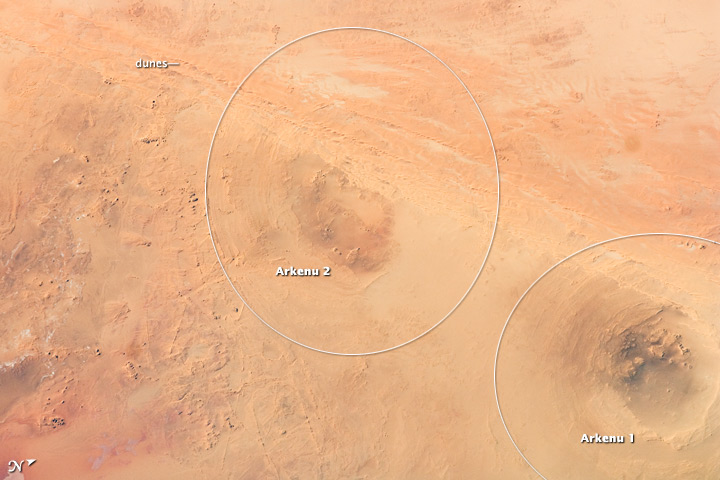 Arkenu Craters, Libya