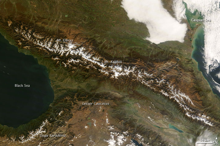 Fall Colors the Caucasus Mountains