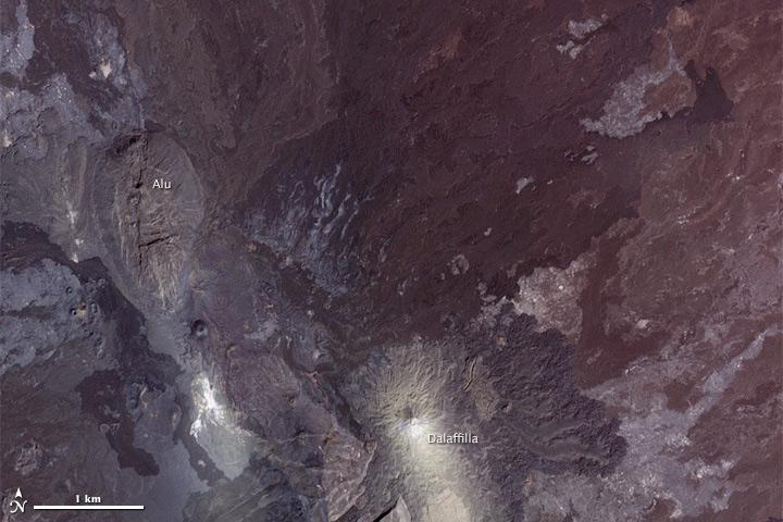 Lava Flow from Erta Ale Range, Ethiopia