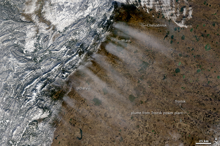 Lee Clouds in Russia's Ural Mountains