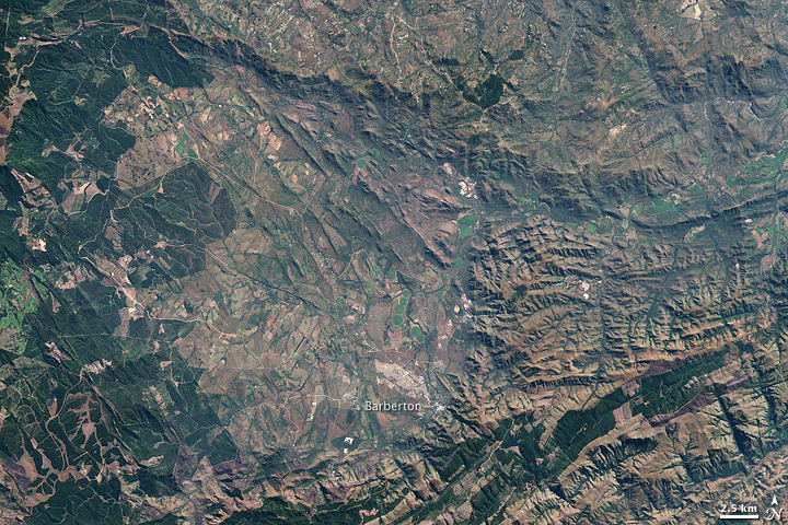 Barberton Mountains, South Africa : Image of the Day