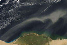 Dust over the Eastern Mediterranean Sea