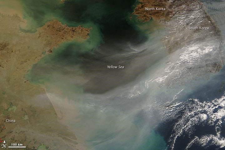 Haze over the Yellow Sea