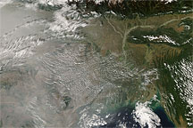 Haze over India and the Bay of Bengal