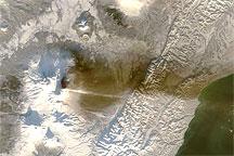Plume from Klyuchevskaya Volcano