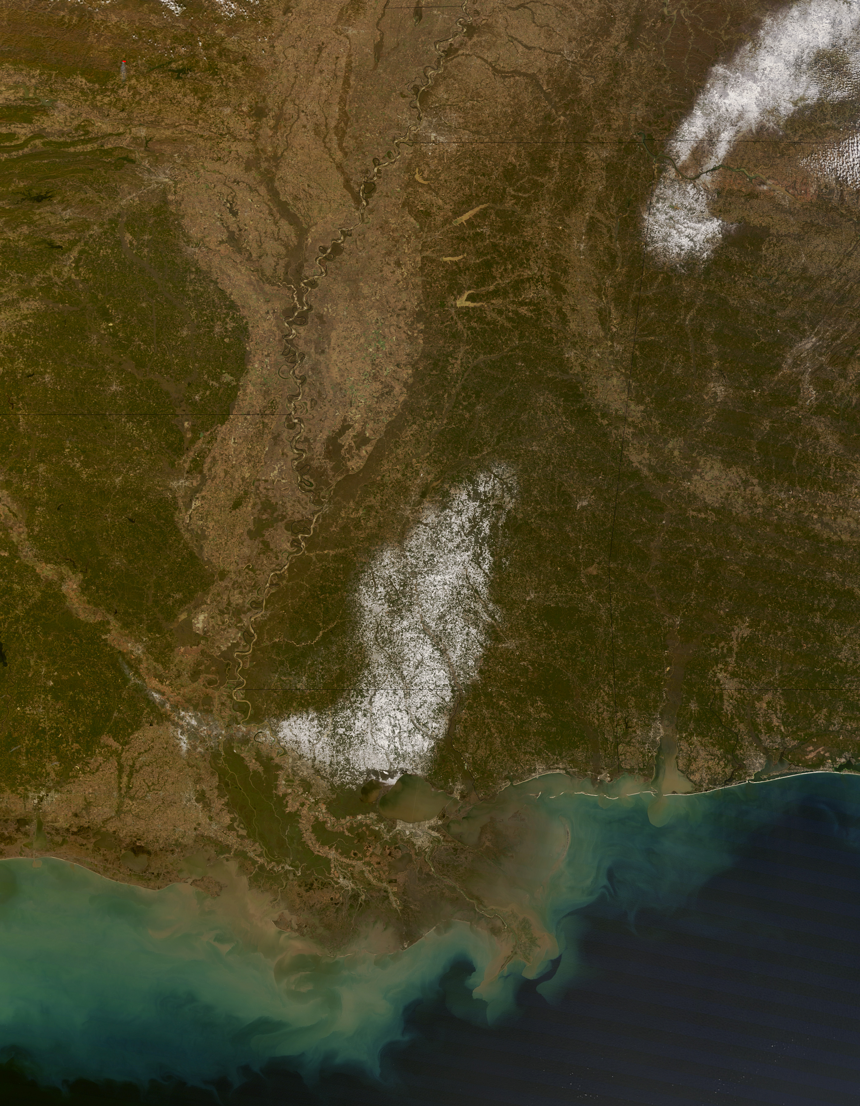 rare snow in the u s deep south image of the day
