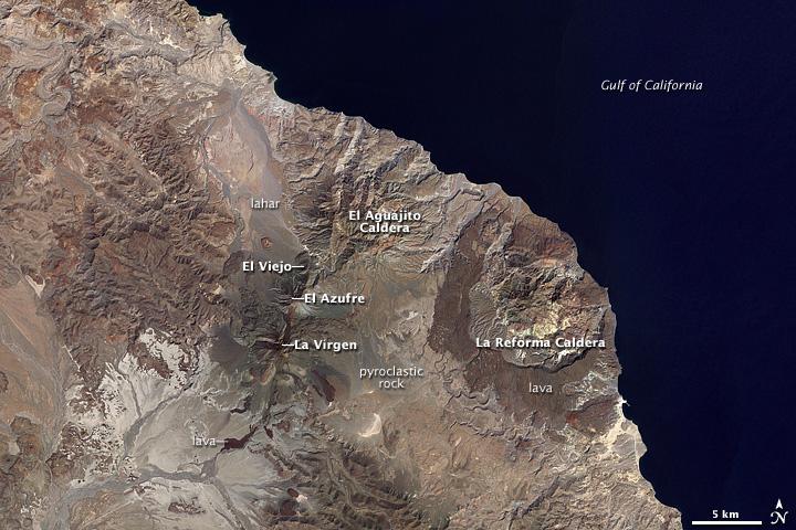 Volcanoes on Baja California Peninsula