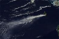 Plume from Soufriere Hills Volcano