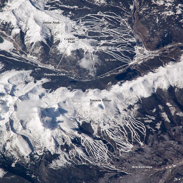 Breckenridge and Copper Mountain Ski Slopes, Colorado