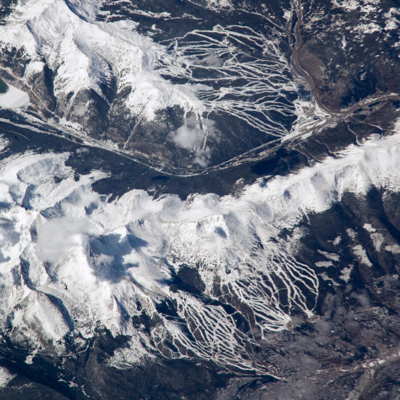 nasa visible earth: breckenridge and copper mountain ski slopes