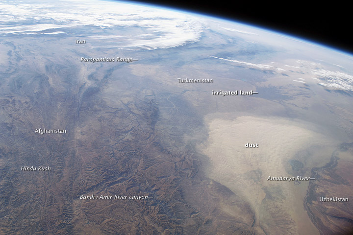 Dust Storm, Turkmenistan, Central Asia