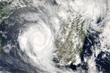 Cyclones Fanele and Eric