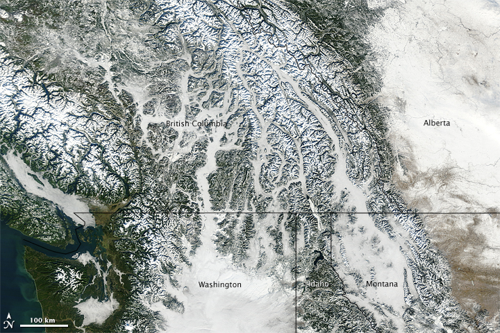 Snow and Fog in Pacific Northwest