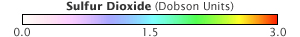 Color bar for Sulfur Dioxide Emissions, Bulgaria