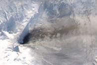 Ash Plume from Klyuchevskaya Volcano