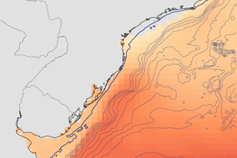 Wind Speeds off the Coast of Southern Brazil - related image preview