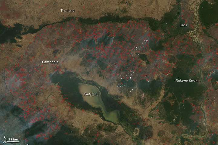 Fires in Cambodia