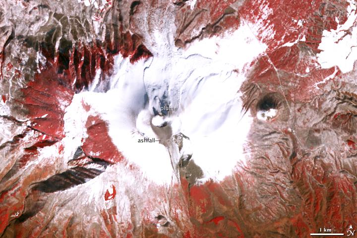 Volcanic Activity on Mt. Asama