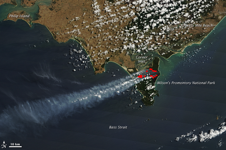 Bushfire in Wilson's Promontory National Park