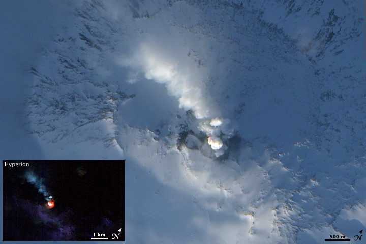 Volcanic Activity on Mt. Erebus
