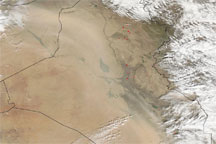 Dust over the Middle East