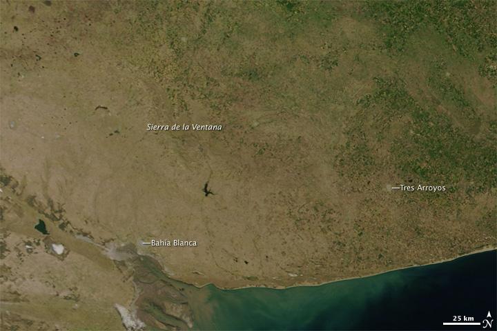 Drought In Argentina Natural Hazards - Argentina drought map