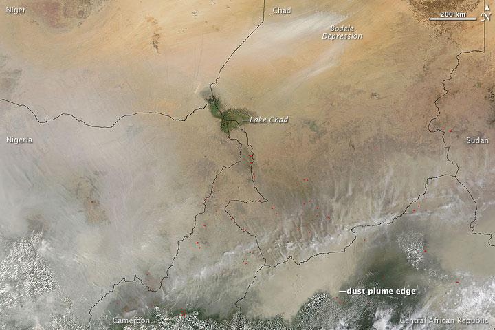 Dust South of the Sahel
