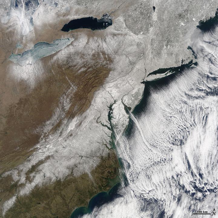 Snow Along the East Coast