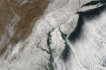 Snow Along the East Coast