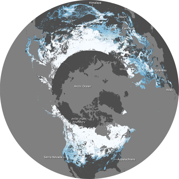 Snow Cover, December 2008 and February 2009