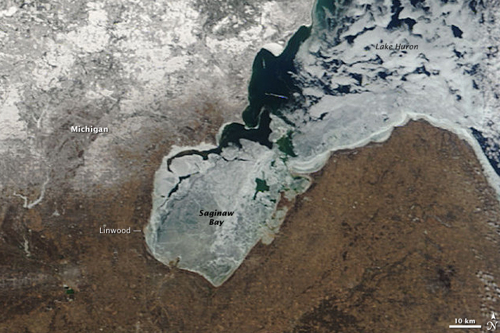 Ice on Saginaw Bay, Lake Huron