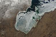 Ice on Saginaw Bay, Lake Huron