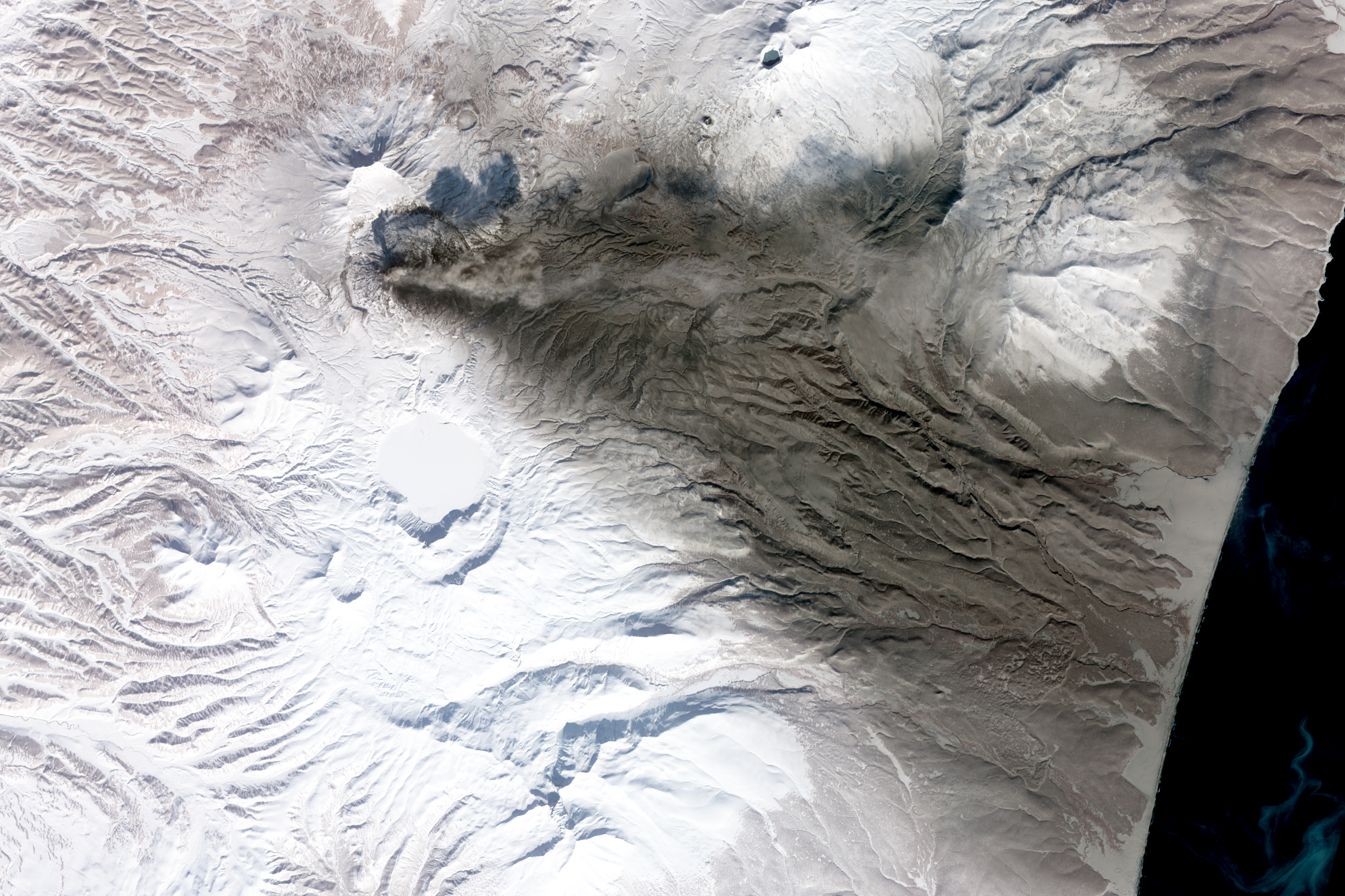 Ashfall from the Karymsky Volcano - related image preview