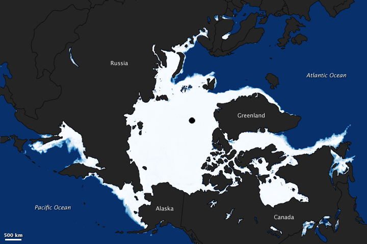 Sea Ice Extent as the Equinox Approaches