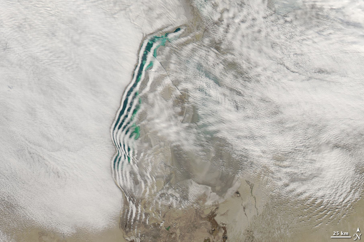 Unusual Wave Clouds over the Aral Sea