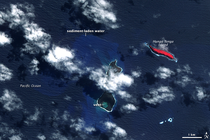 Submarine Eruption in the Tonga Islands