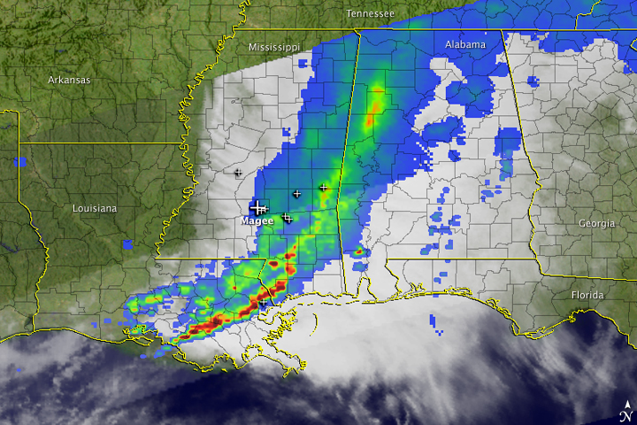 Severe Thunderstorms over Mississippi