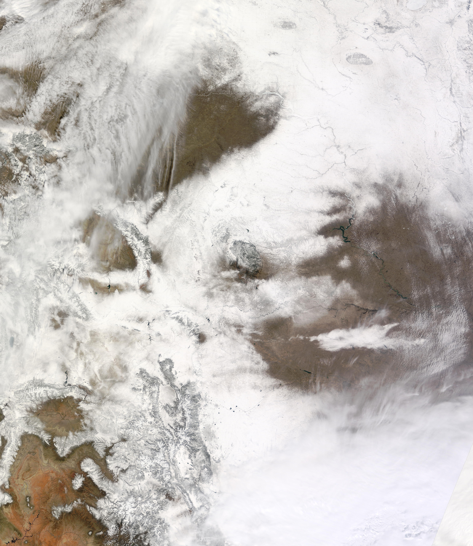 Denver News Cyclone: Spring Snow Over Denver, Colorado : Natural Hazards