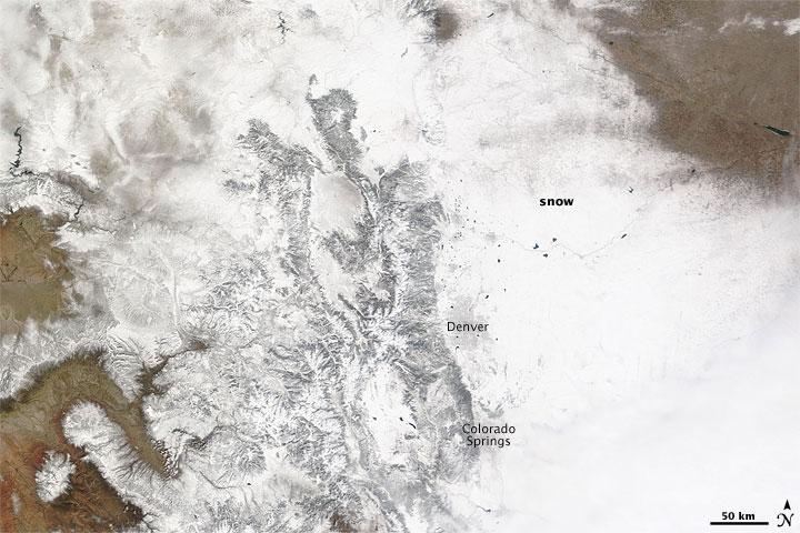 Spring Snow Brings Moisture to Colorado Front Range