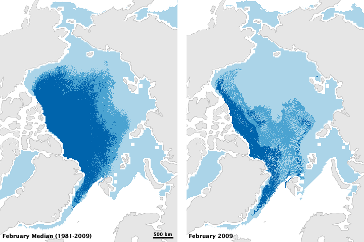 Amount of Old Ice in Arctic Hits Record Low in February 2009