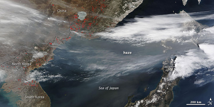 Haze over the Sea of Japan